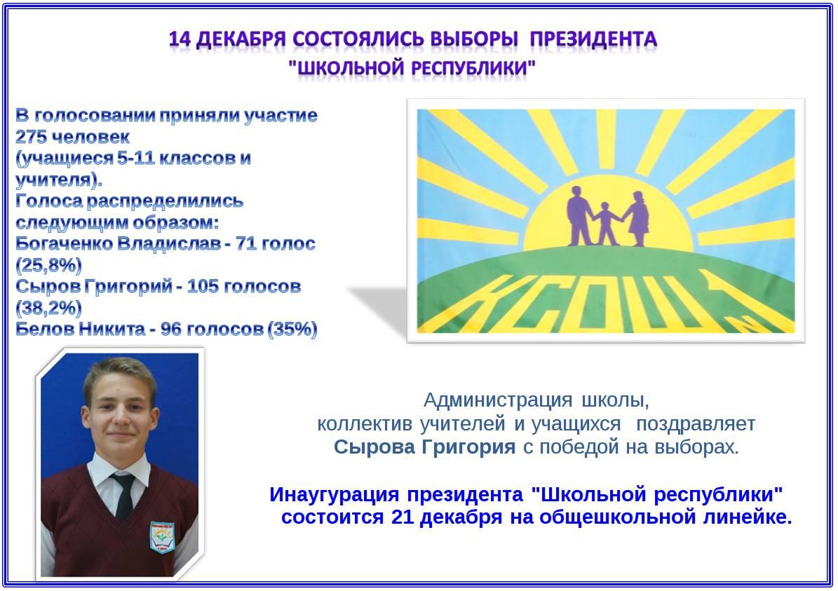 Поздравление учащихся президентом